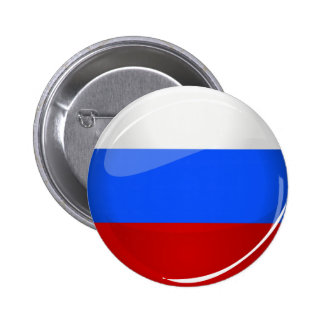 Glossy Round Russia Flag 2 Inch Round Button
