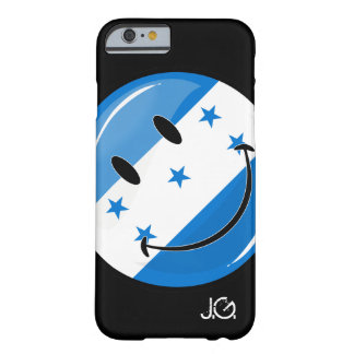 Glossy Round Smiling Honduran Flag Barely There iPhone 6 Case
