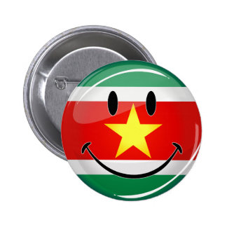 Glossy Round Suriname Flag 6 Cm Round Badge