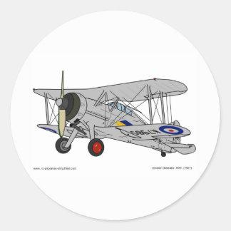 Gloster Gladiator (1937) Classic Round Sticker