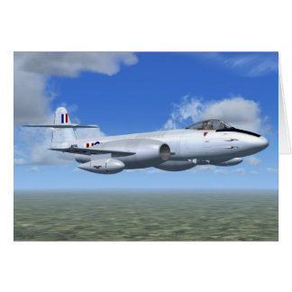 Gloster Meteor Jet Fighter Plane Card