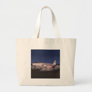 Gloster Meteor Jet Fighter Plane Large Tote Bag