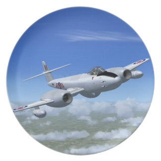 Gloster Meteor Jet Fighter Plane Plate