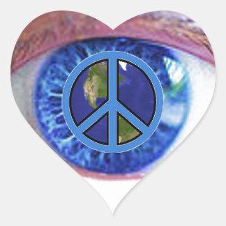 Glowees Visualize World Peace Heart Sticker