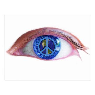 Glowees Visualize World Peace Postcard