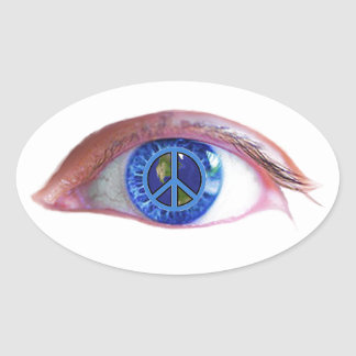 Glowees Visualize World Peace Oval Stickers