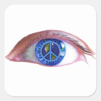 Glowees Visualize World Peace Square Sticker