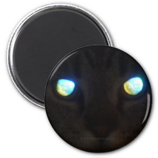 Glowing Cat Eyes 6 Cm Round Magnet