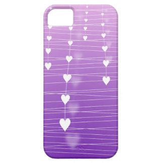 Glowing Hearts Purple iphone case