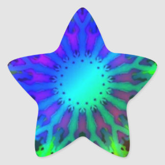 Glowing in the Dark Kaleidoscope art Star Sticker