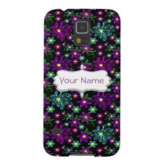 Glowing Linear Floral Pattern Galaxy S5 Case