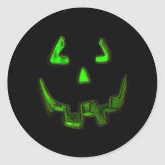 Glowing Pumpkin Face Stickers