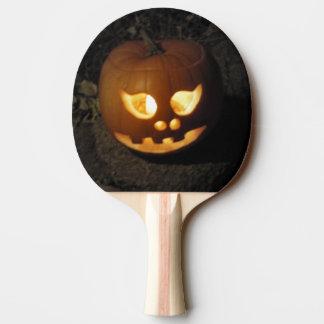 Glowing Pumpkin Ping Pong Paddle