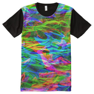Glowing Rainbow Abstract All-Over Print T-Shirt