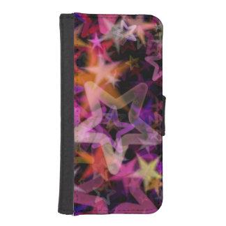 Glowing Stars In Night Light iPhone SE/5/5s Wallet Case