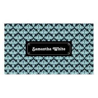 Glowing style blue abstract pattern pack of standard business cards