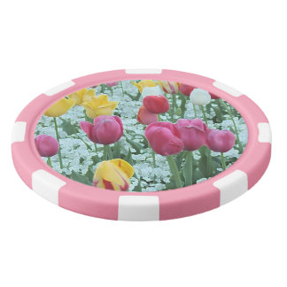 Glowing Tulip Garden Set Of Poker Chips