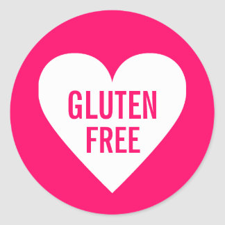 Gluten Free Allergy Safe Culinary Label Round Sticker