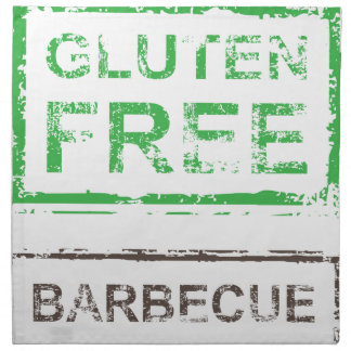 Gluten Free Barbecue Stamp Napkin
