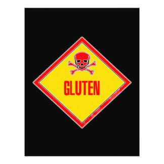 Gluten Poison Warning 21.5 Cm X 28 Cm Flyer