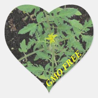 GMO FREE Heirloom Tomato Plant Peace Sign Sticker