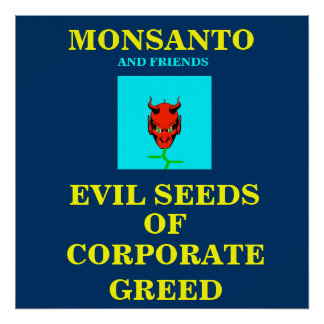 GMO POSTER/ PROTEST SIGN