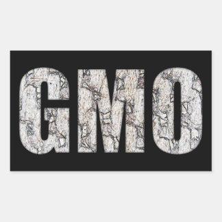GMO RECTANGULAR STICKER