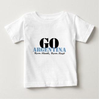 Go Argentina Run Fast Tshirts