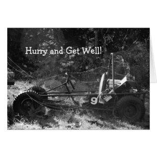 Go Cart Get Well Card