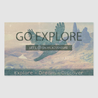Go Explore Rectangular Sticker