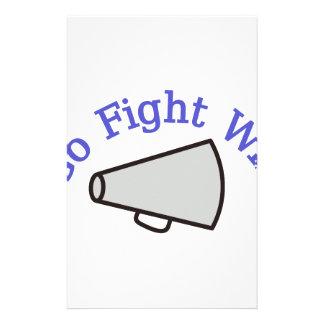 Go, Fight, Win Stationery