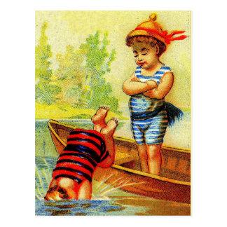 """Go fish!"" Postcard"
