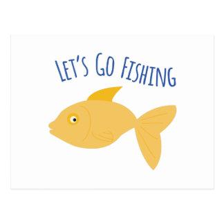 Go Fishing Postcard