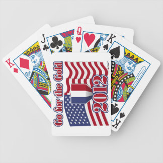 Go for the Gold with American Flag Bicycle Playing Cards