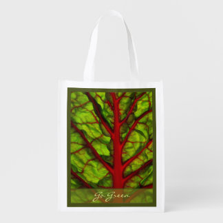 Go Green Chard Reusable Grocery Bags
