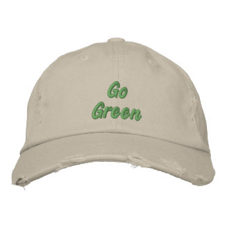 Go Green Embroidered Baseball Cap