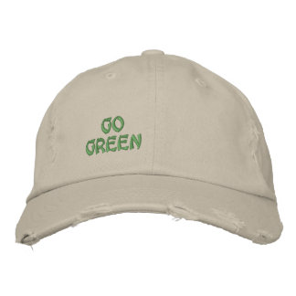 GO GREEN EMBROIDERED CAP