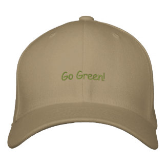 Go Green! Embroidered Cap