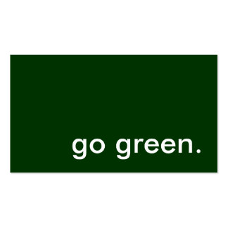 207 go green business cards and go green business card for Go business cards