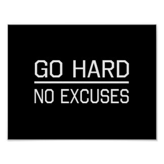 Go Hard No Excuses Poster