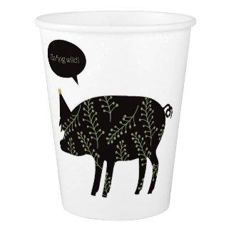 Go Hog Wild! paper cups