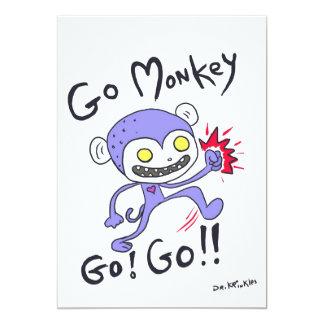 Go Monkey Go! 5x7 Paper Invitation Card