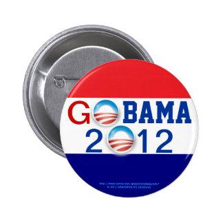 GO OBAMA 2012 3D Logo 2nd Term 6 Cm Round Badge