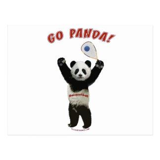 Go Panda Racquetball Postcard