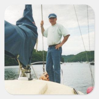 'Go Sailing' Square Sticker