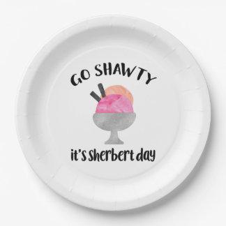 Go Shawty, It's Sherbert Day   Birthday Paper Plate
