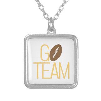 Go Team Square Pendant Necklace