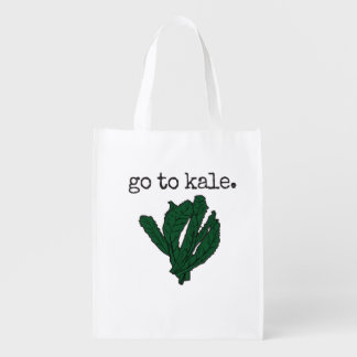 go to kale. (kale) reusable grocery bag