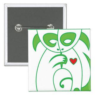 GO VEGAN - Animal Letters 1 Buttons