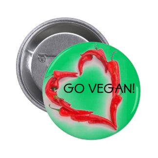 Go Vegan! 6 Cm Round Badge